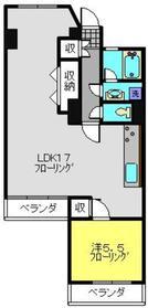 南永田団地7階Fの間取り画像