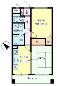 ファインコート南篠崎2階Fの間取り画像