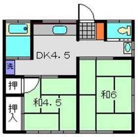 日吉本町駅 徒歩4分1階Fの間取り画像