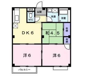 エルディム内田2階Fの間取り画像