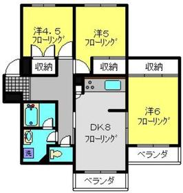 富士マンション3階Fの間取り画像
