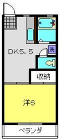 ハイムK2階Fの間取り画像