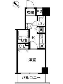 スカイコート富士見台4階Fの間取り画像
