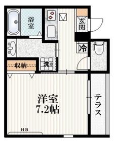 (仮称)高松町2丁目マンション1階Fの間取り画像