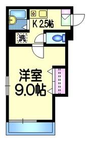 コルベーユ1階Fの間取り画像