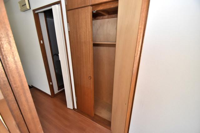 三国プラザ もちろん収納スペースも確保。お部屋がスッキリ片付きますね。