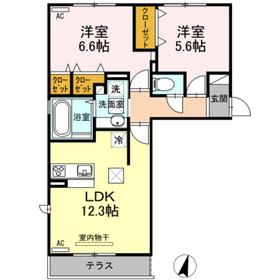 上徳I1階Fの間取り画像