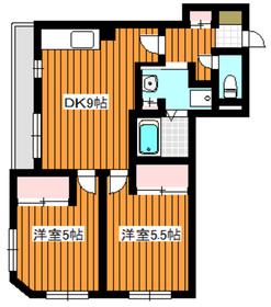 中板橋駅 徒歩3分2階Fの間取り画像