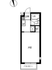 スカイコート新宿落合第34階Fの間取り画像