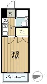 スカイコート多摩川第21階Fの間取り画像
