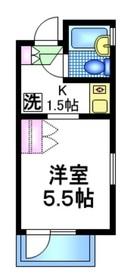 アサヒマンション4階Fの間取り画像