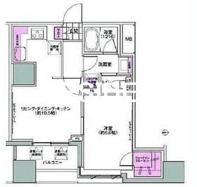 馬喰横山駅 徒歩2分6階Fの間取り画像