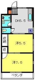 プラムハウス2階Fの間取り画像