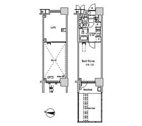 パークアクシス辰巳ステージ1階Fの間取り画像