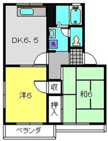 メゾン竹園B2階Fの間取り画像