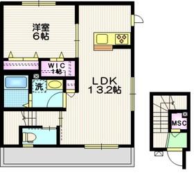 (仮称)相模原市中央区共和2丁目メゾン2階Fの間取り画像