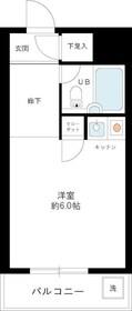 スカイコート川崎大師3階Fの間取り画像