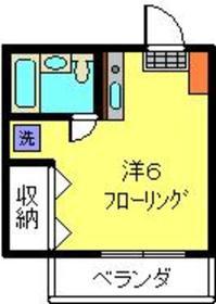 大倉山駅 徒歩16分2階Fの間取り画像