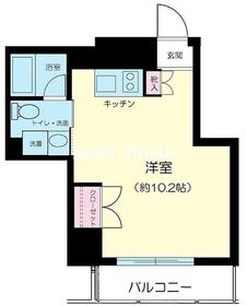 ミテッツァ千代田三崎町3階Fの間取り画像