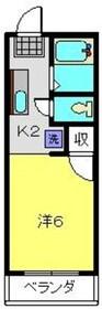 プレザージュ大岡2階Fの間取り画像