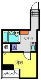 日吉駅 徒歩3分4階Fの間取り画像