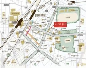 京急川崎駅 徒歩12分案内図