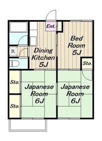 本厚木駅 バス15分「中戸田」徒歩5分2階Fの間取り画像
