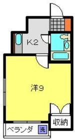 アリサマンション2階Fの間取り画像