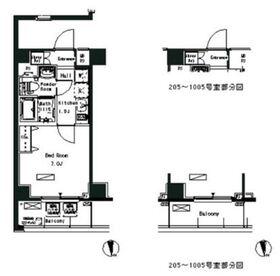 パークアクシス横浜井土ヶ谷2階Fの間取り画像