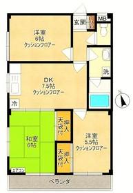稲田堤駅 徒歩5分3階Fの間取り画像