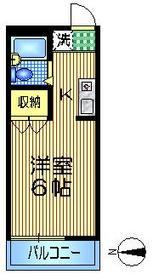 メゾンリュイスレ2階Fの間取り画像