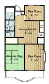 グリーンアーバン23階Fの間取り画像