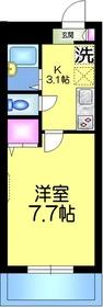 ボヌールメゾン2階Fの間取り画像
