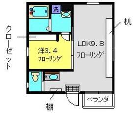 SACRAS YOKOHAMA2階Fの間取り画像