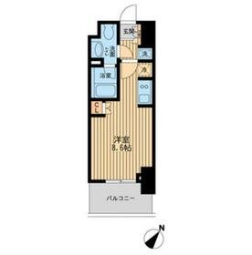 レジディア川崎8階Fの間取り画像