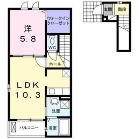 ヴィオーラ ルーチェ2階Fの間取り画像