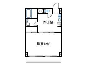 ホワイトメゾンヤマキ9階Fの間取り画像