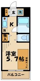 多摩学生マンション2階Fの間取り画像