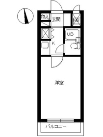 スカイコート橋本31階Fの間取り画像