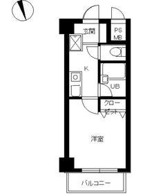 スカイコート蒲田駅前2階Fの間取り画像