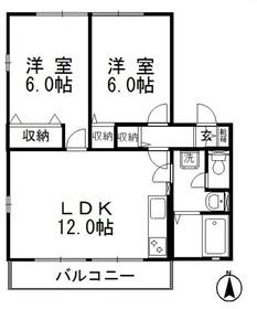 ハートフルユーナ Ⅱ2階Fの間取り画像