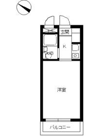 スカイコート西横浜51階Fの間取り画像