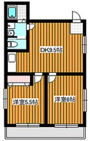 下赤塚駅 徒歩5分2階Fの間取り画像