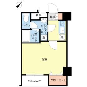 スカイコートヌーベル入谷第23階Fの間取り画像