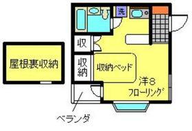 ハウスキボウ2階Fの間取り画像