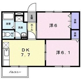 門沢橋駅 徒歩6分2階Fの間取り画像