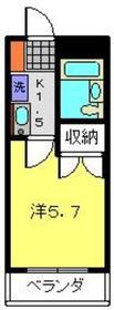 平間駅 徒歩17分1階Fの間取り画像