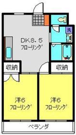 楓マンション2階Fの間取り画像