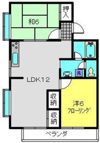 ハイツパークサイドNO21階Fの間取り画像