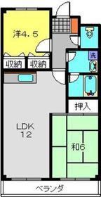 新羽駅 徒歩27分5階Fの間取り画像